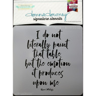 Donna Downey Signature Series Stencils, Matisse Do Not DD123, 8.5 x 8.5in, Scrapify, Australia
