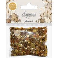 Craft Consortium Tell The Bees Sequins - Gold and Honey, Scrapify, Australia
