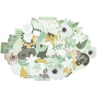 Kaisercraft  Collectables, Die cut shapes,Mint Wishes, over 50 pcs, Scrapify, Australia