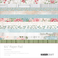 Kaisercraft  6.5in, Paper Pad, Rose Avenue, Design paper, 40 Page Pad, 2x12 sheets Designed Paper, 12xSpecialty Papers, 4xDie Cut Pages, Scrapify, Australia