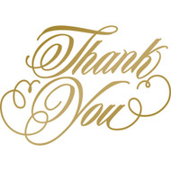 COUTURE CREATIONS -Anna Griffin Foil Stamp Die, Thank You, 63.7 x 44.7 mm, Scrapify, Australia