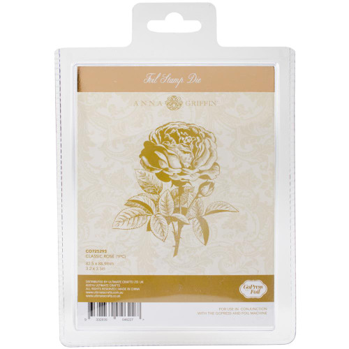 COUTURE CREATIONS -Anna Griffin Foil Stamp Die, Classic Rose, 82.5 x 88.9mm, Scrapify, Australia