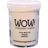 WOW! Embossing Powder 160ml, clear Matt Dull Regular, Scrapify, Australia