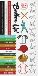 Kaisercraft Game On, Sticker Sheet, Baseball, 15 x 30cm sheet, Scrapify, Australia