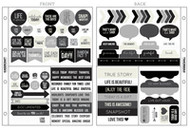 Kaisercraft Captured Moments Pocket Stickers - Black with bonus 6 x 8in pocket, over 90 pcs, Scrapify, Australia
