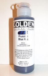 Golden, Fluid Acrylics, Artist Quality, Prussian Blue Hue #2439, 4 fl.oz, 118ml, Scrapify, Australia