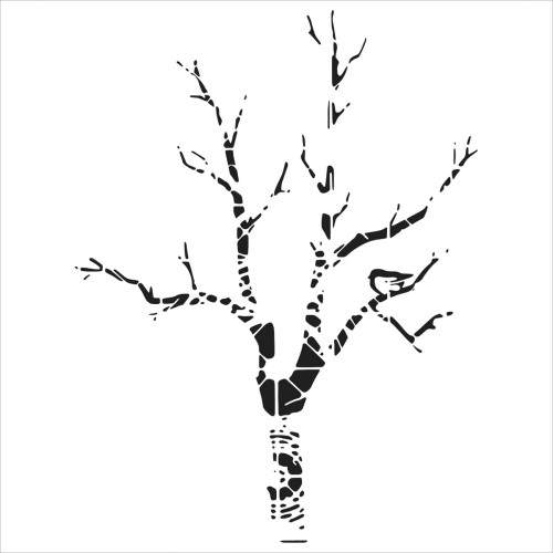 "The Crafter's Workshop Stencils 12""x12"" - Shadow Tree"