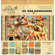 """Graphic45, On The Boardwalk Double-Sided Cover-Weight Paper Pad 12""""X12"""" 22 Sheets, Scrapify, Australia"""