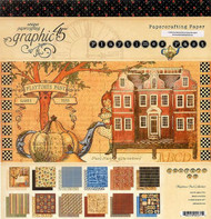 """Graphic45, playtime past, Double-Sided Cover-Weight Paper Pad 12""""X12"""" 22 Sheets, Scrapify, Australia"""
