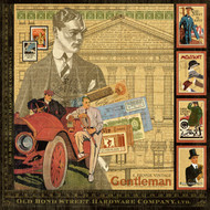"""Graphic45, A proper Gentleman, Double-Sided Cover-Weight Paper Pad 12""""X12"""", 22 Sheets, Scrapify, Australia"""
