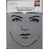 Donna Downey Signature Series Stencils, Face It, 8.5 x 8.5in, Scrapify, Australia
