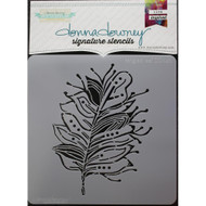 Donna Downey Signature Series Stencils, Tangled Leaf, 8.5 x 8.5in, Scrapify, Australia