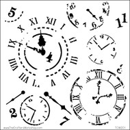 """The Crafter's Workshop Stencils 6""""x6"""" - Mini Time Travel"""