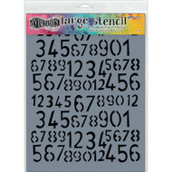 "Dyan Reaveley's Dylusions Stencils 9""X12"", Old School Numbers, large, Scrapify, Australia"