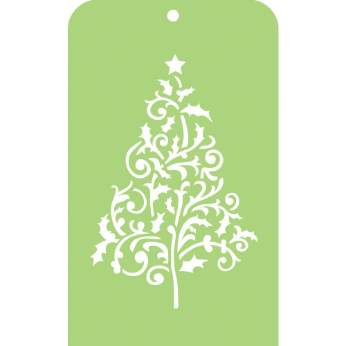 Kaisercraft, mini designer template, flourish tree, 3.5 x 5.75 in, Scrapify, Australia