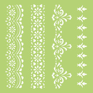 Kaisercraft, Designer Template, 6 x 6in, Lace Borders, IT439, Scrapify, Australia