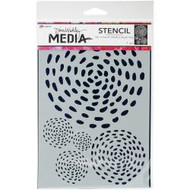 Ranger - Dina Wakley Media - Stencils And Masks - Swirling Dashes MDS58304, Scrapify, Australia