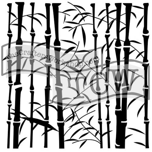 """The Crafter's Workshop Stencils 12""""x12"""" - Bamboo, TCW254, Scrapify, Australia"""