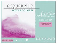 "Fabriano Acquarello Hot Press Watercolour Paper 300gsm, 140lb, Traditional White,  100% Cotton, 9""x12"", 20 Sheets, Scrapify, Australia"
