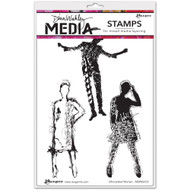"Ranger, Dina Wakley Media - Silhouetted Women, Cling Stamps 6""x9"", Scrapify, Australia"