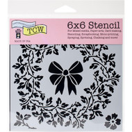 "The Crafter's Workshop Stencils 6""x6"" - Big Wreath, TCW721s, Scrapify, Australia"