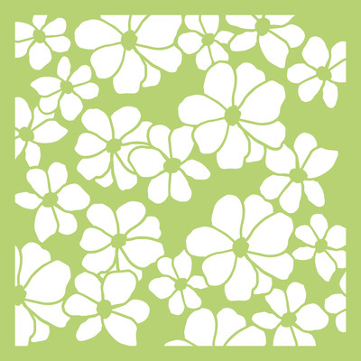 Kaisercraft, Designer Template, 6 x 6in, Floral, IT458, Scrapify, Australia