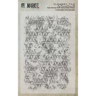"49 and Market, Flowery Tile Stamp Set by Pascale Bernard (4""x6""), Scrapify, Australia"