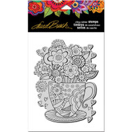Stampendous Laurel Burch Cling Stamp, Teacup, Scrapify, Australia
