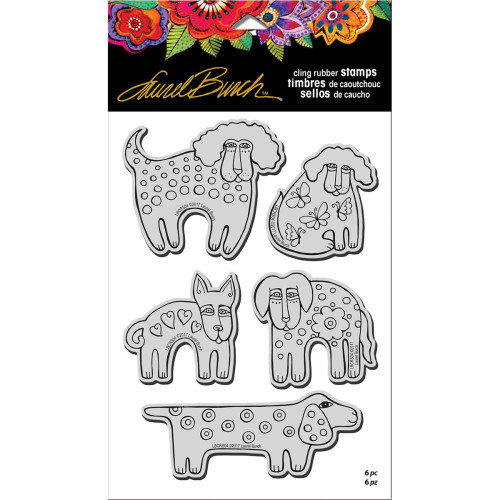 Stampendous Laurel Burch Cling Stamp, Dog Park with Stencil/Template, Scrapify, Australia