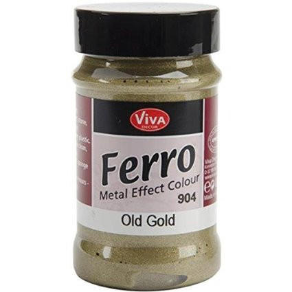 Viva Decor, Ferro (Metal Effect Colour), 90ml Old Gold (Alt Gold), Scrapify, Australia