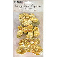 49 and Market, Vintage Shades Potpourri – Yellow, Scrapify,  Australia