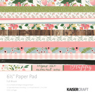 "Kaisercraft  Paper Pad 6.5""x6.5"",  Full Bloom, PP1046, Scrapify, Australia"