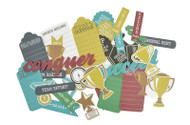 Kaisercraft  Collectables, Die Cut Shapes, over 40 pcs, Game On Awards,  CT792,  Scrapify, Australia