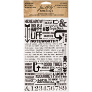 Tim Holtz Idea-ology - Remnant Rubs - Life Quotes, Scrapify, Australia