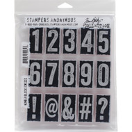 Tim Holtz Stampers Anonymous - Number Blocks - Cling Rubber Stamp Set, Scrapify, Australia