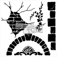 "The Crafter's Workshop Stencils 12""x12"" - Tuscan Wall"