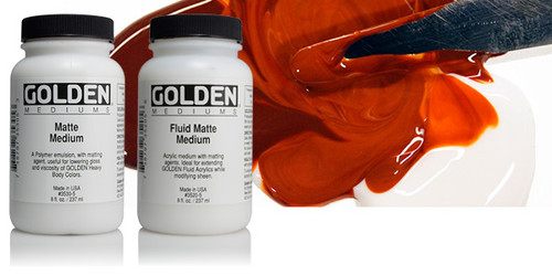 Golden Fluid Matte Medium 8oz 236mls