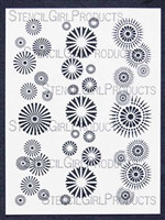 Border Circles Stencil By Stencil Girl