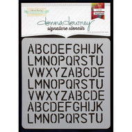 Donna Downey Signature Series Stencils - Alphabet Rerun