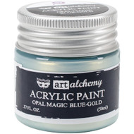 Prima Finnabair Art Alchemy Acrylic Paint - Opal Magic Blue-Gold, Scrapify, Australia