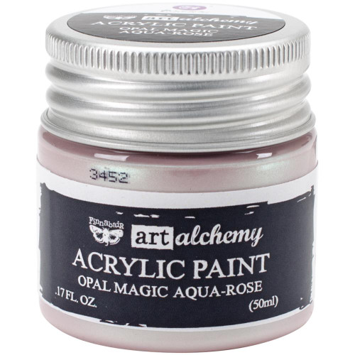Prima Finnabair Art Alchemy Acrylic Paint - Opal Magic Aqua-Rose, Scrapify, Australia
