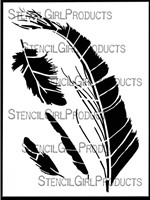 Feather Stencil By Cecilia Swatton for Stencil Girl