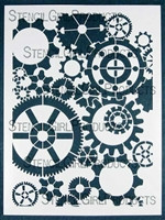 Gears Stencil By Mary Beth Shaw for Stencil Girl