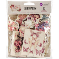Prima Marketing-Tales Of You & Me Self Adhesive Chipboard. The perfect start to your scrapbooks, cards and mixed media projects! This 6-3/4x5-1/4 inch package contains thirty chipboard embellishments.