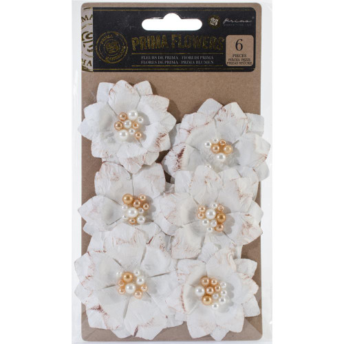 Prima Marketing-Tales Of You & Me Flowers: Toujours. These delicate flowers feature a beautiful design that will compliment any project! This package contains six flowers measuring between 2 inches round and 3 inches round. Comes in a variety of colors