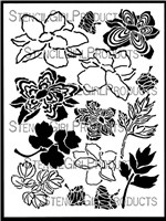 Layered Peonies Stencil By Jessica Sporn For Stencil Girl