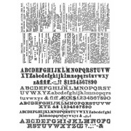Tim Holtz Stampers Anonymous - Cling Rubber Stamp Set - Newsprint and Type - Scrapify