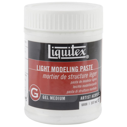 Liquitex Light Modeling Paste, Acrylic Gel Medium, 237ml (8oz), Scrapify, Australia