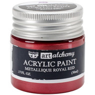 Finnabair Art Alchemy Acrylic Paint Metalllique Royal Red, Scrapify, Australia