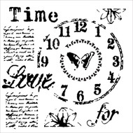 "The Crafter's Workshop Stencils 6""x6"" - Mini Time for Love - Rebekah Meier- Scrapify - Australia"